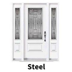 Steel doors style