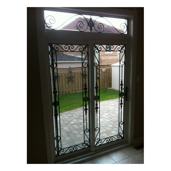 Pacific Patio Door Wrought Iron with transom