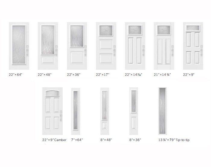 Alys glass size options