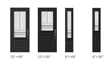 Avenue glass size options
