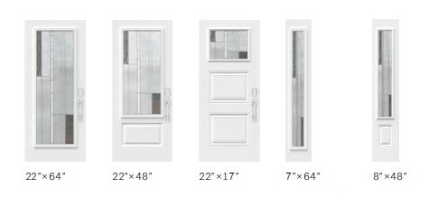 Barcello glass size options