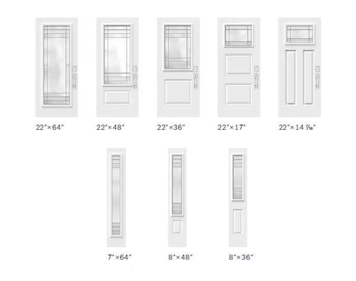Celeste glass size options