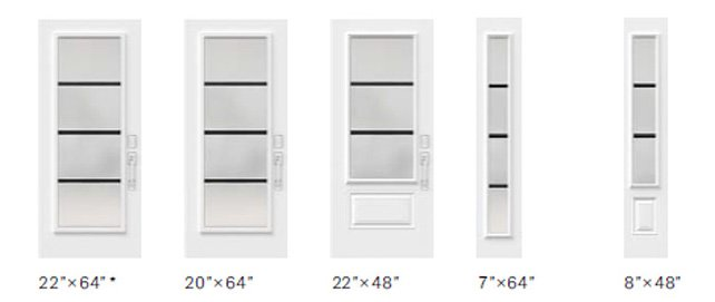 Pure glass size options