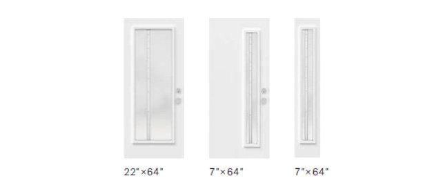 Tandem glass size options