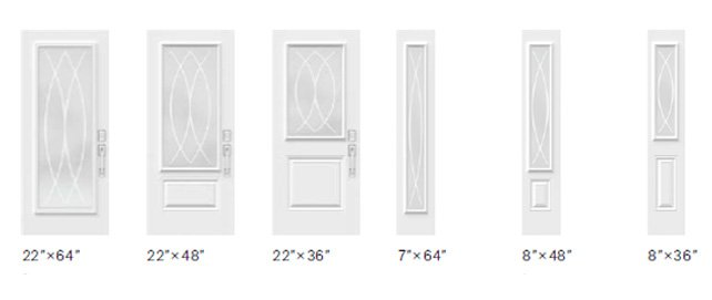Verso glass size options