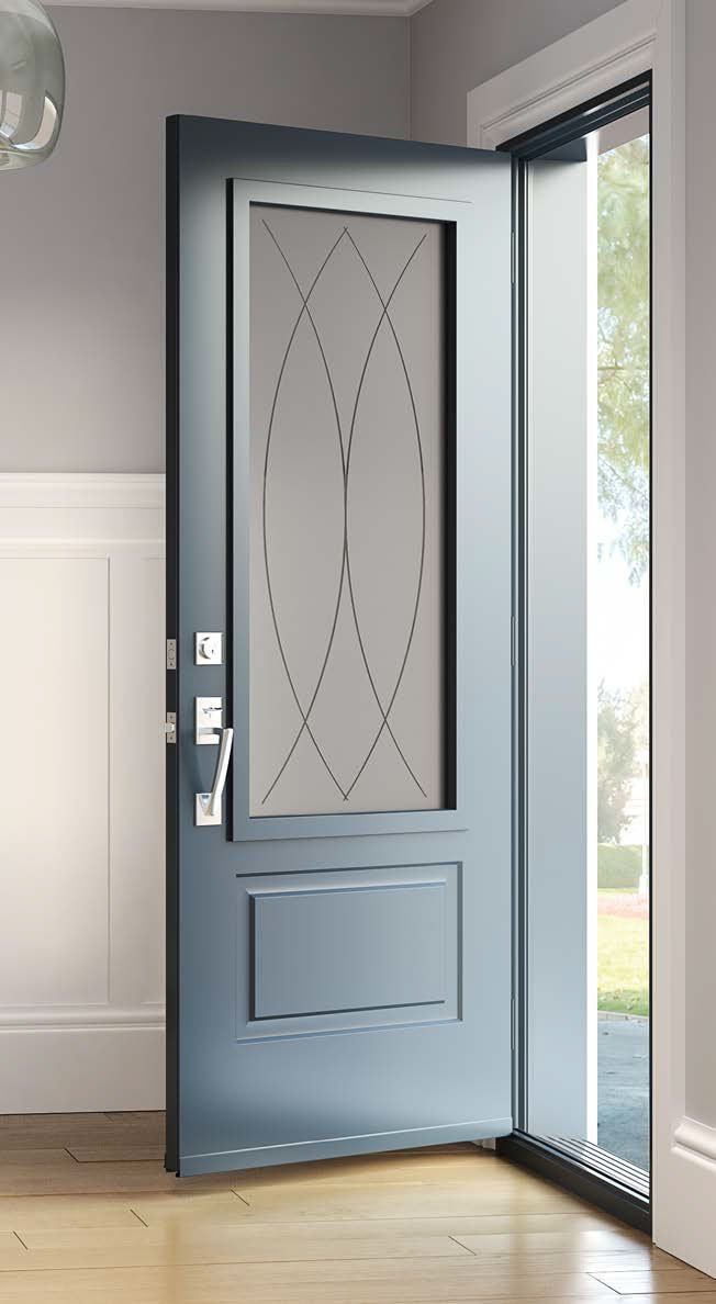 Contemporary doorglass frame panel