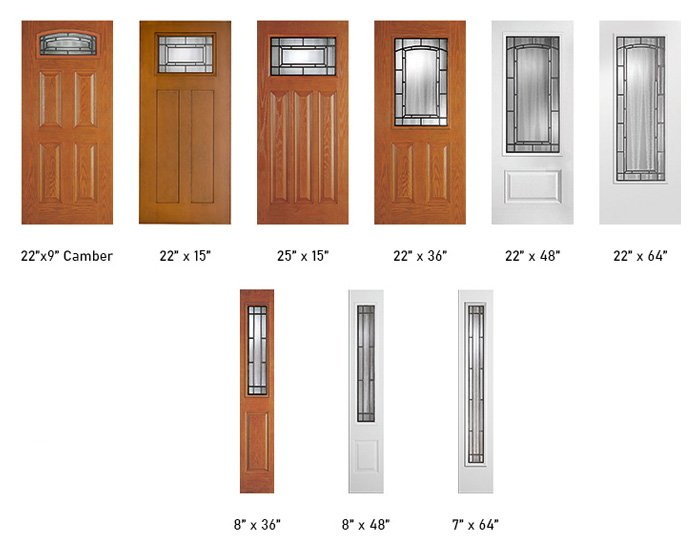 Adelaide glass size options