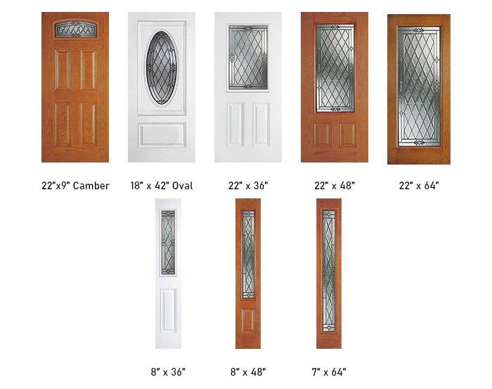 Canterbury glass size options