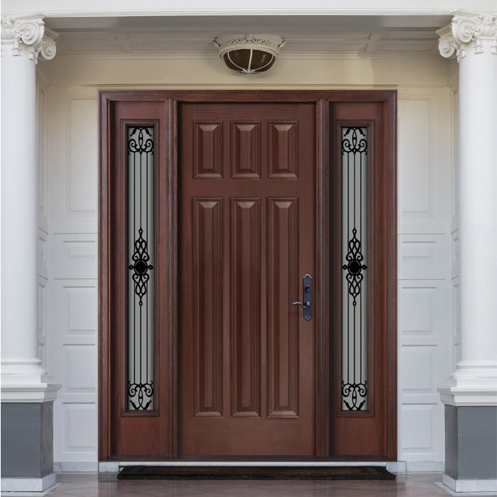 FLORENCE WROUGHT IRON FR-07 0X0 Door - Sidelite 7x64