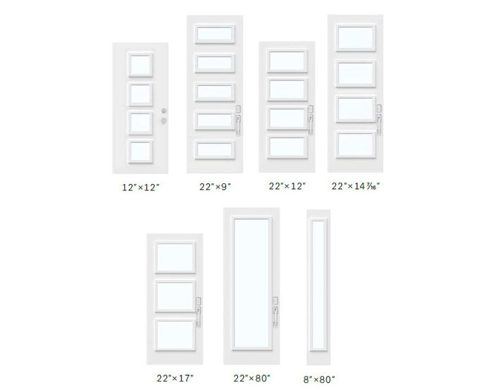 Pinhead glass size options