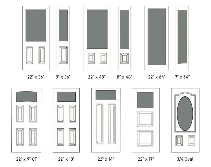 Alston glass size options