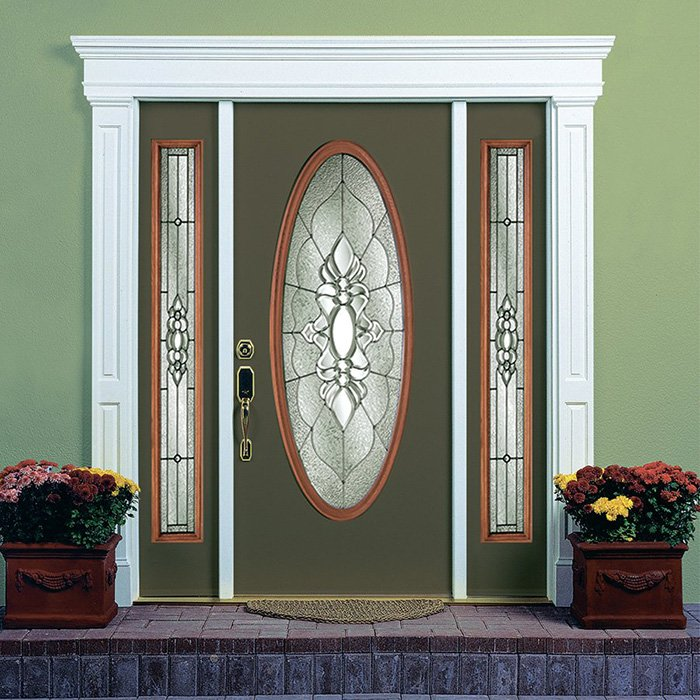 Chinook Picture Door Full Oval Sidelite 7x64