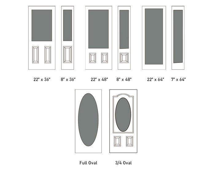 Chinook glass size options