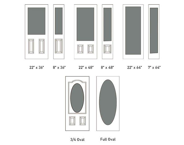 Kitimat glass size options