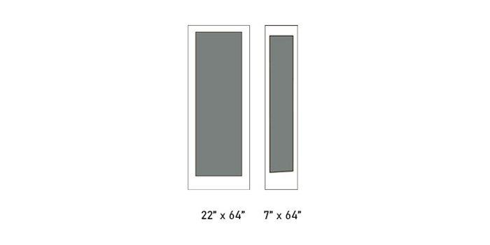 Parksville glass size options