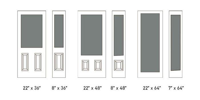 Richmond glass size options