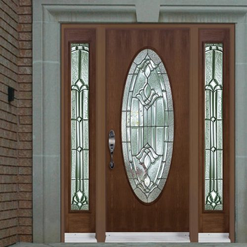 Sitka Picture Door Full Oval Sidelite 7x64