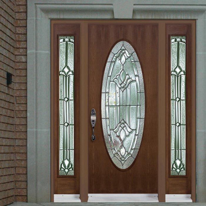 Sitka Picture Door Full Oval Sidelite 7x64