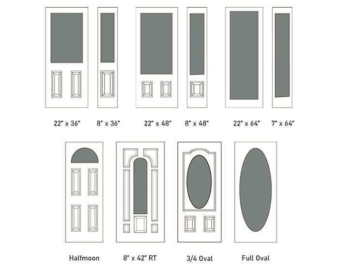 Sitka glass size options