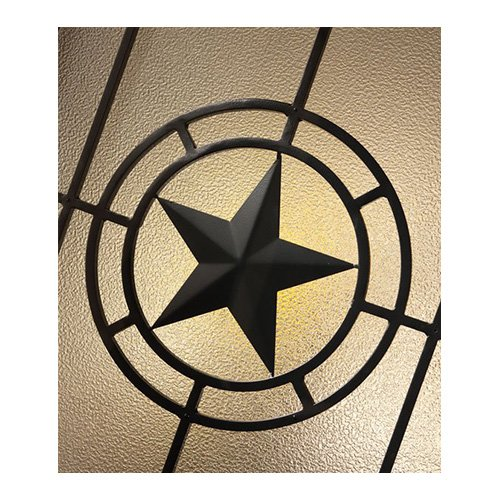 Elegant Star Wrought Iron Closeup Details