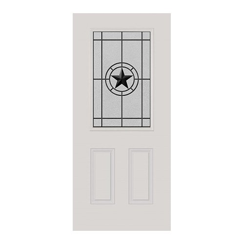 Elegant Star Wrought Iron Door 22x36
