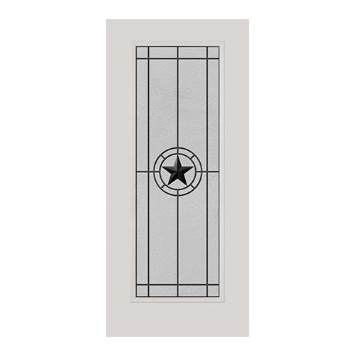 Elegant Star Wrought Iron Door 22x64