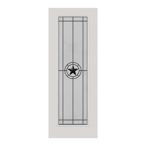 Elegant Star Wrought Iron Door 22x80
