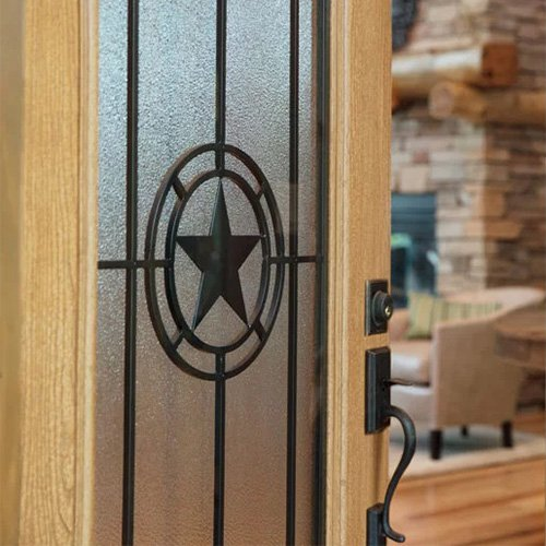 Elegant Star Wrought Iron Picture Closeup Details