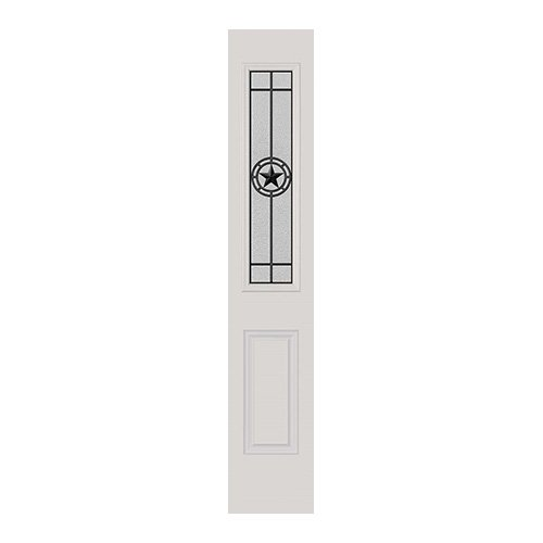 Elegant Star Wrought Iron Sidelite 8x36