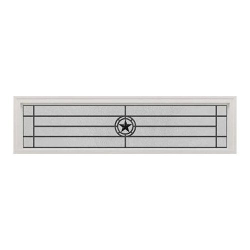 Elegant Star Wrought Iron Transom 63x14