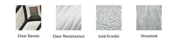 Piña glass texture options