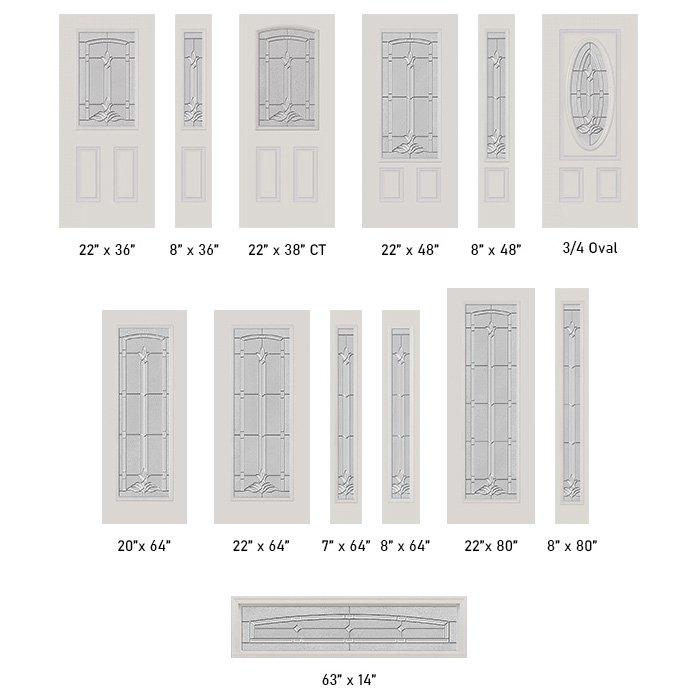 Bristol glass size options