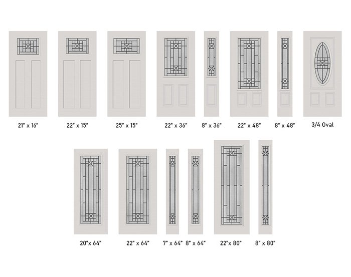 Courtyard glass size options