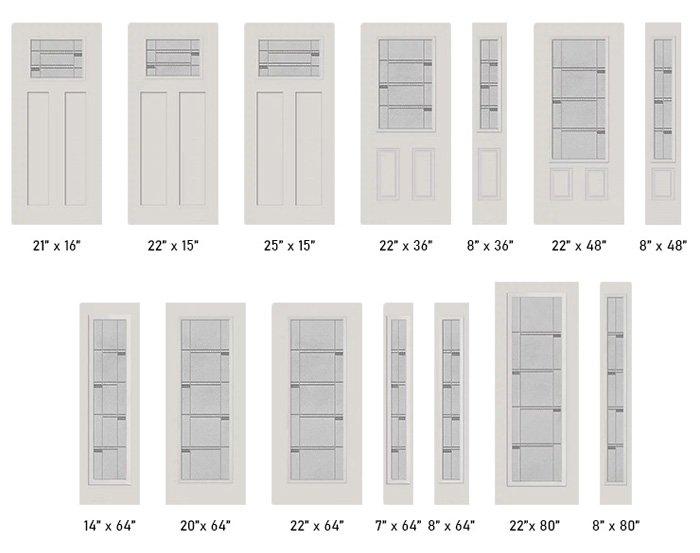 Crosswalk glass size options