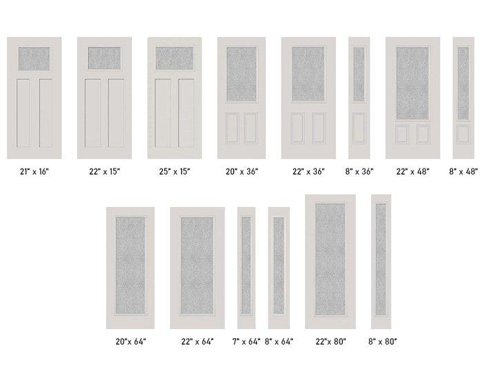 Cumulus glass size options