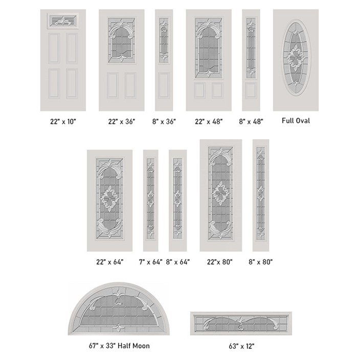 Expressions glass size options