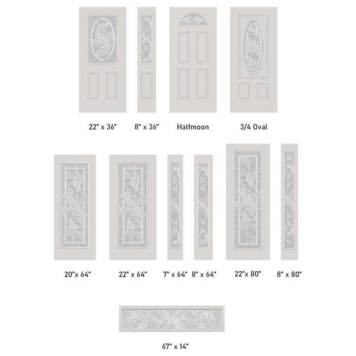 Impressions glass size options