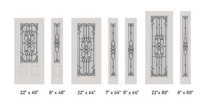 Mediterranean glass size options