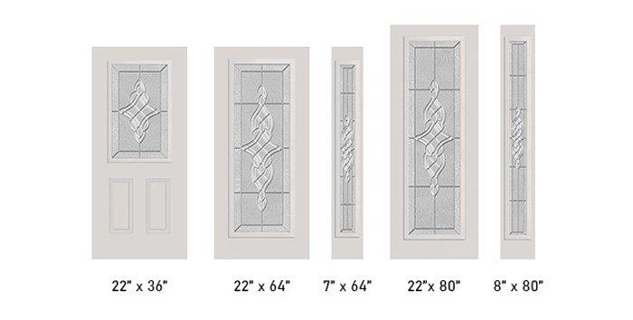 Memoria glass size options
