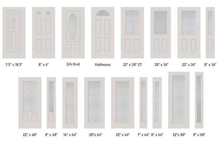 Rain glass size options