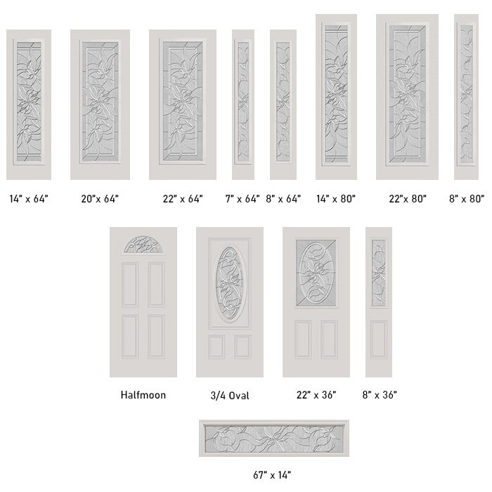 Renewed Impressions glass size options