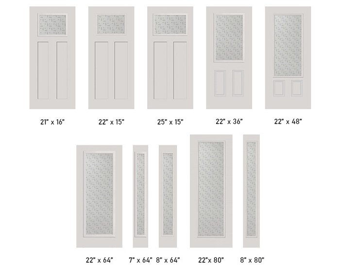 Repartee glass size options