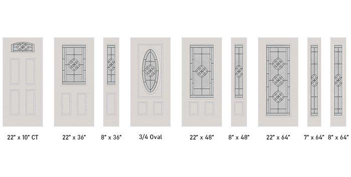 Tierna glass size options
