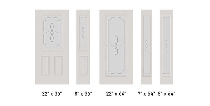 Trace glass size options