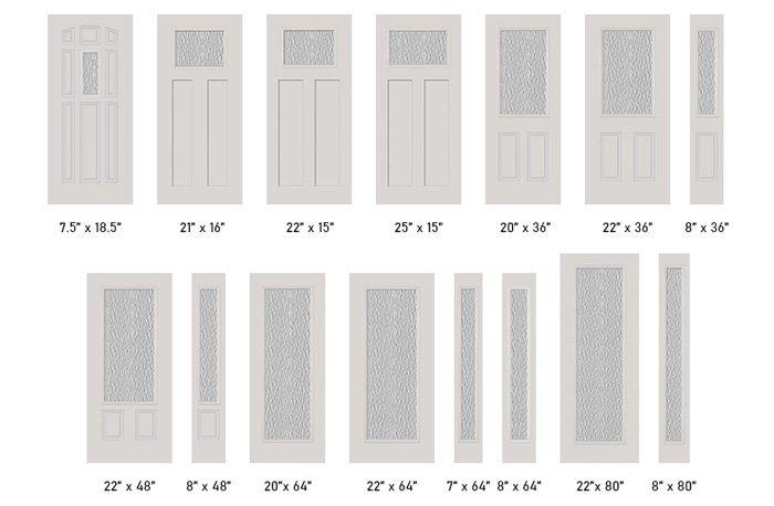 Vapor glass size options