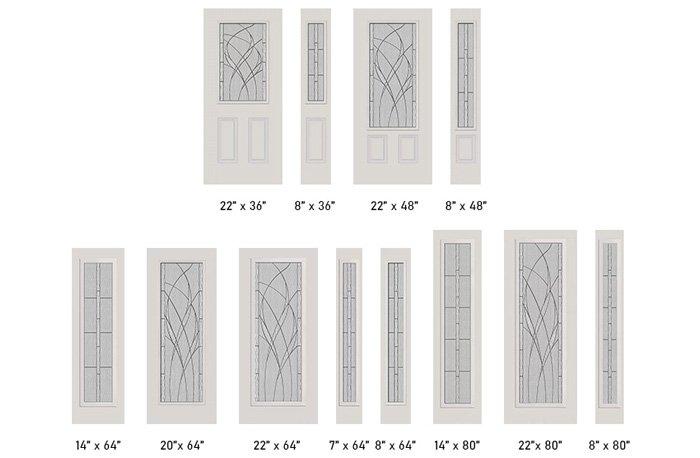 Waterside glass size options