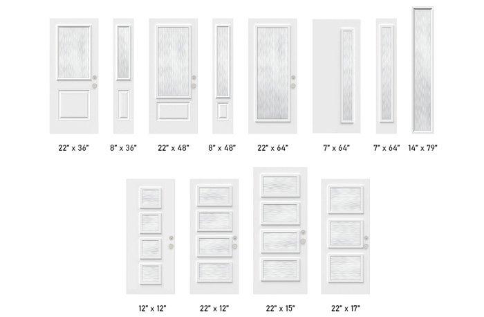 Fluid glass size options