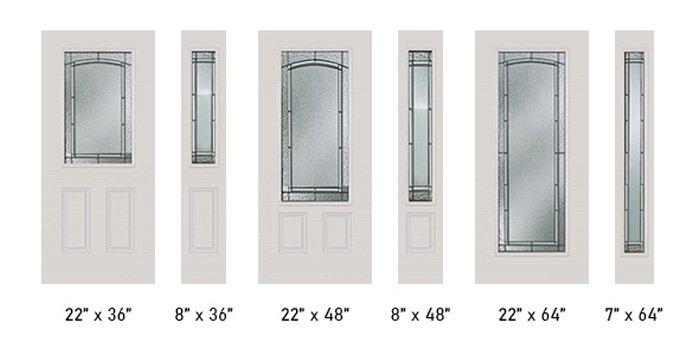 Portland glass size options