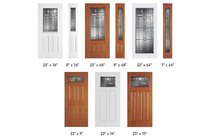 Royston glass size options