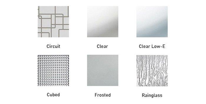 Spotlights glass texture options